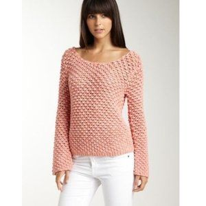 Aiko Amelie Cotton Knit Knot Summer Sweater S